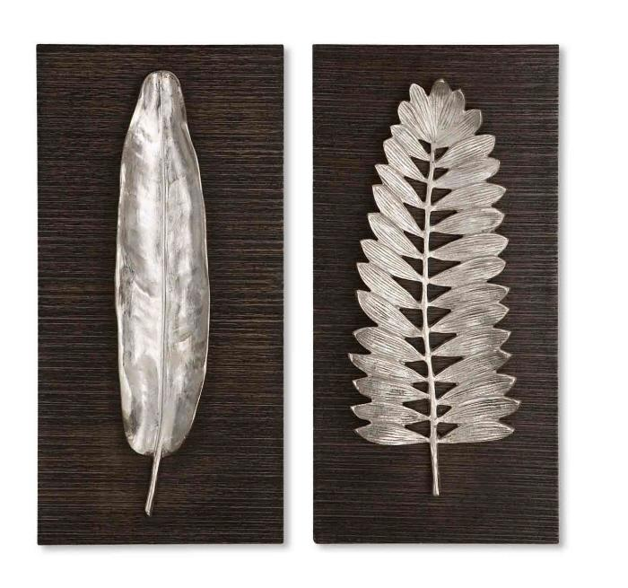 Uttermost 04001 Silver Leaves, S/2  - фото 1