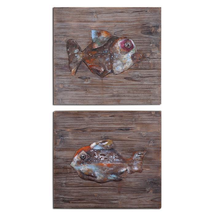 Uttermost 04272 Fresh Fish, S/2 - фото 2