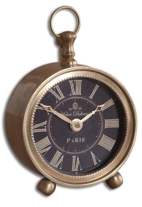 Uttermost 06082 Petite Alarm Clock, Brass - фото 2