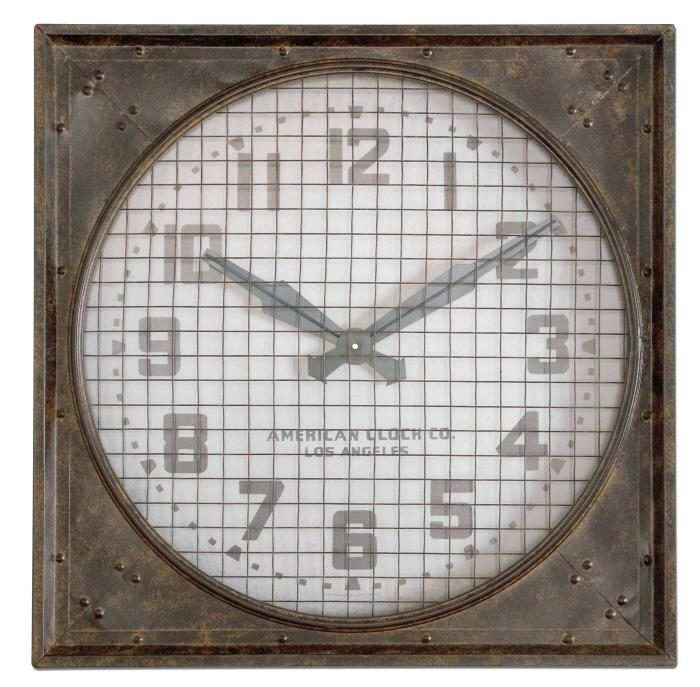 Uttermost 06083 Warehouse Clock w/ Grill - фото 2