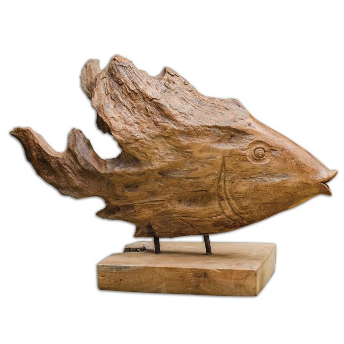 Uttermost 17084 Teak Fish - фото 2