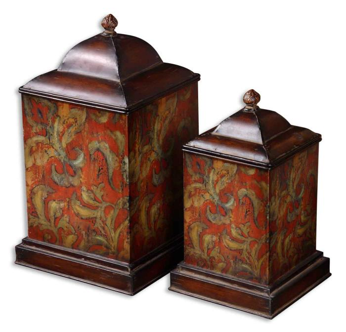 Uttermost 19166 Colorful Flowers, Canisters, S/2 - фото 2