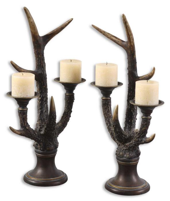 Uttermost 19204 Stag Horn, Candleholder, S/2 - фото 2