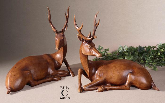 Uttermost 19344 Buck Statues - фото 2
