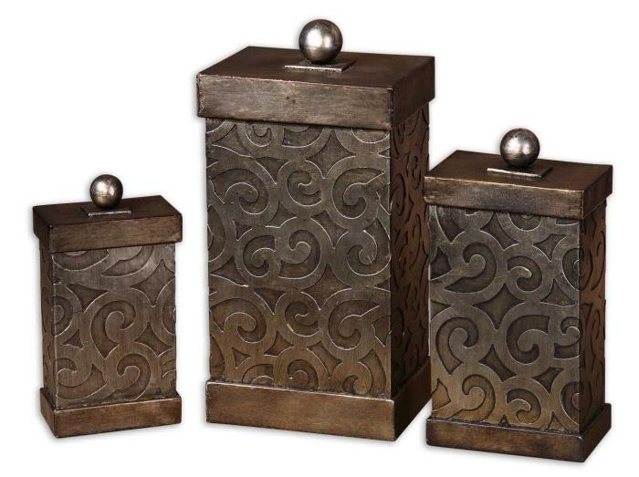 Uttermost 19418 Nera, Boxes, S/3 - фото 2