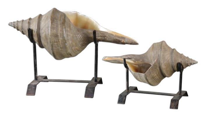 Uttermost 19556 Conch Shell, Sculpture, S/2 - фото 2