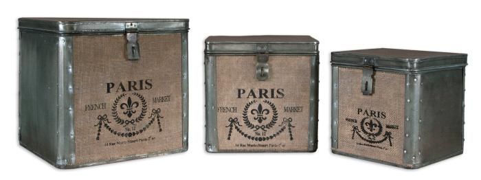 Uttermost 19751 Paris, Hinged Boxes, S/3 - фото 2