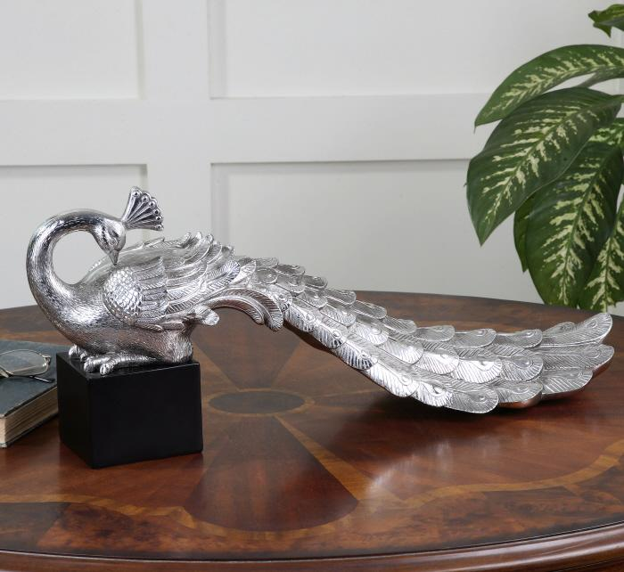Uttermost 19779 Silver Peacock - фото 2