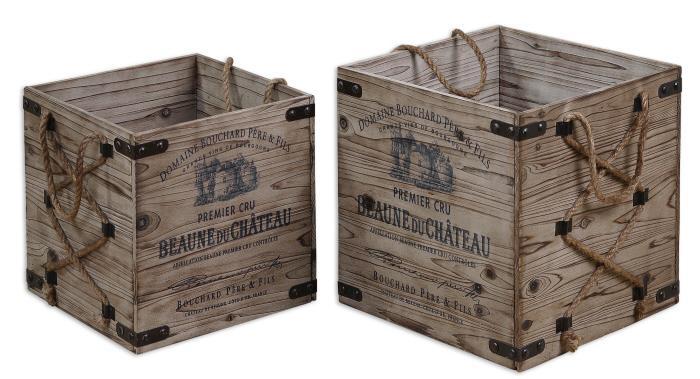 Uttermost 19782 Bouchard, Crates, S/2 - фото 2