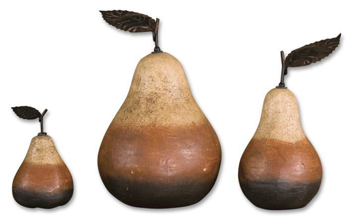 Uttermost 20358 Terra Cotta Pears, S/3 - фото 1