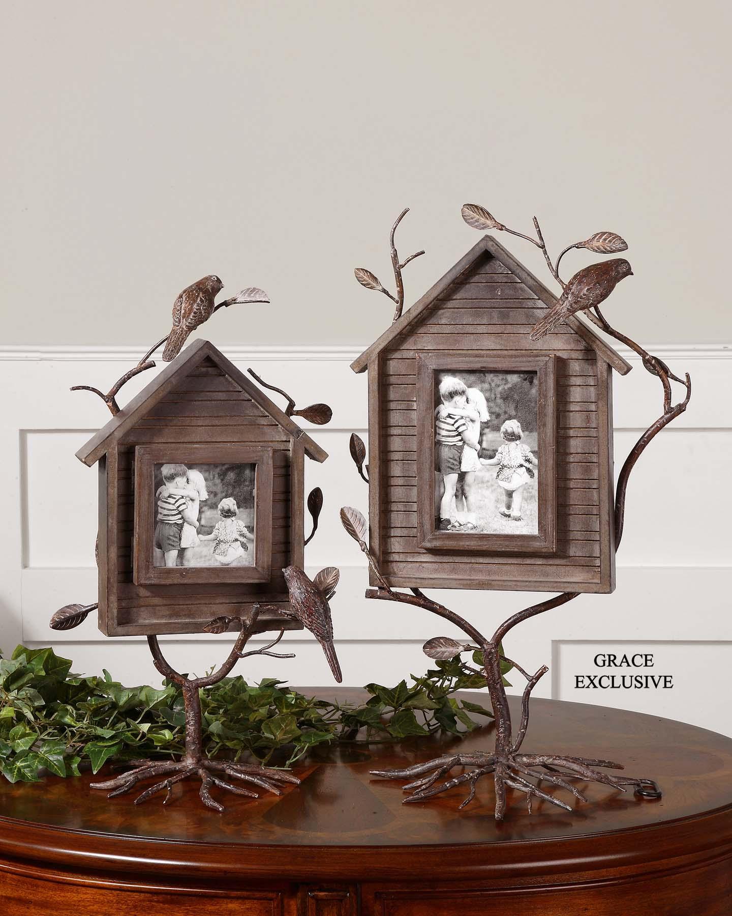 Uttermost 18528 Bird house photo frames set/2 (с дефектом) - фото 2