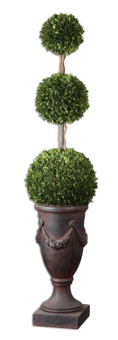 Uttermost 60093 Preserved Boxwood, Triple Topiary - фото 2