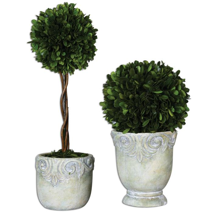 Uttermost 60112 Preserved Boxwood, Ball Topiaries, S - фото 2
