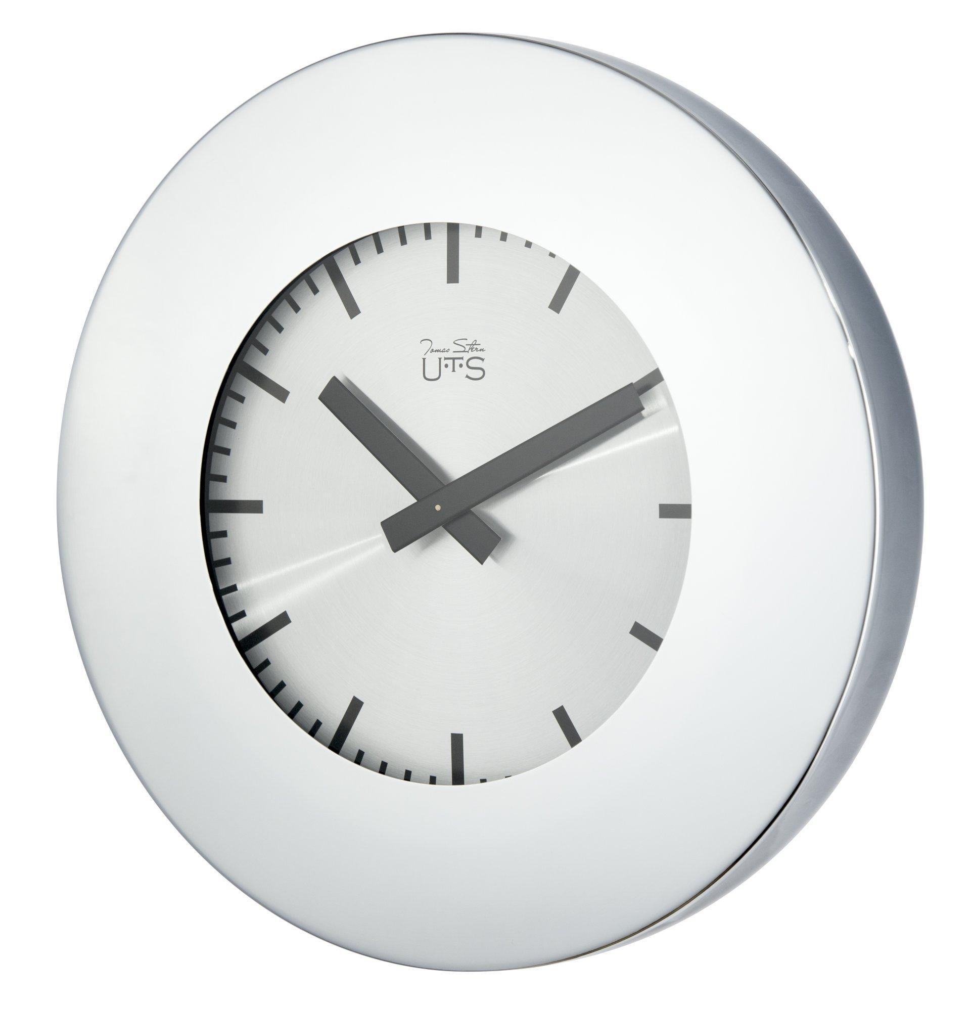 Часы настенные серебристые
