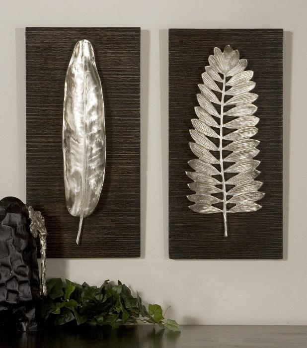 Uttermost 04001 Silver Leaves, S/2  - фото 2