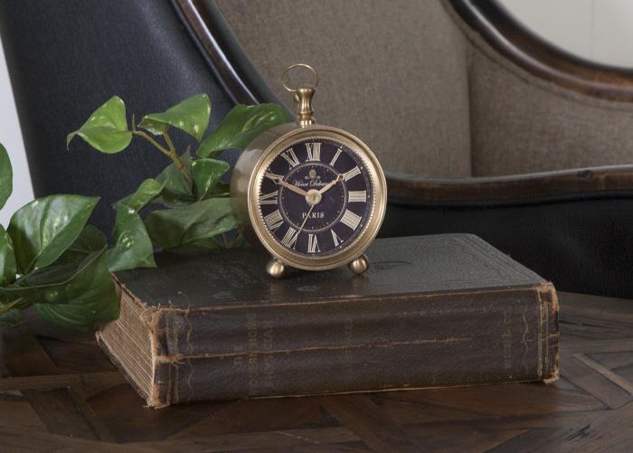 Uttermost 06082 Petite Alarm Clock, Brass - фото 1