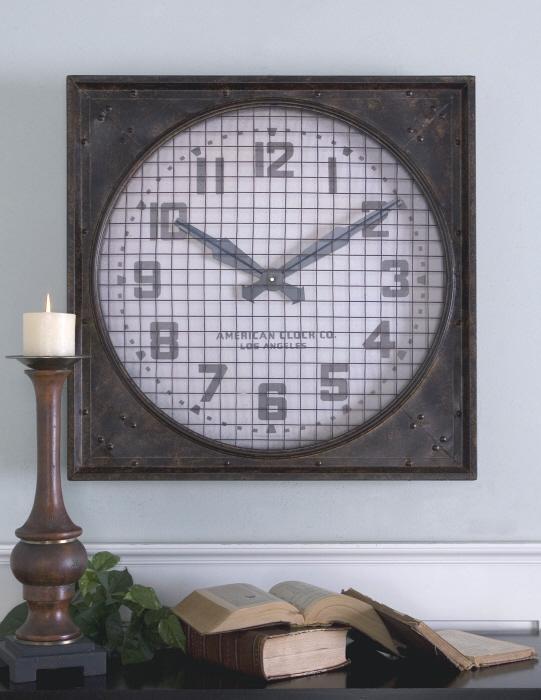 Uttermost 06083 Warehouse Clock w/ Grill - фото 1