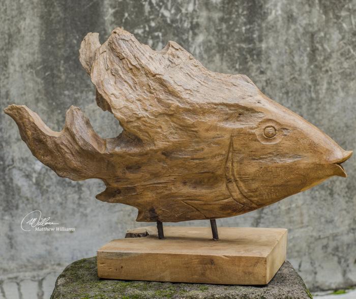 Uttermost 17084 Teak Fish - фото 1