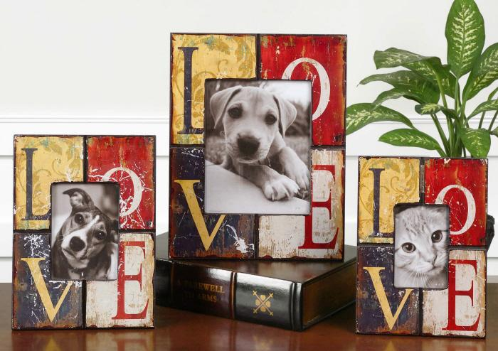 Uttermost 18512 Love, Photo Frames, S/3 - фото 1