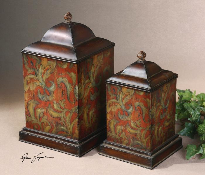 Uttermost 19166 Colorful Flowers, Canisters, S/2 - фото 1