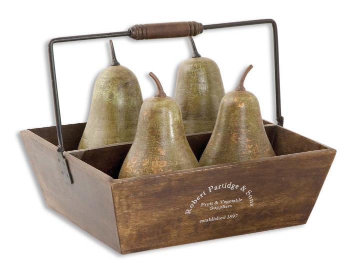 Uttermost 19170 Pears In Basket - фото 1
