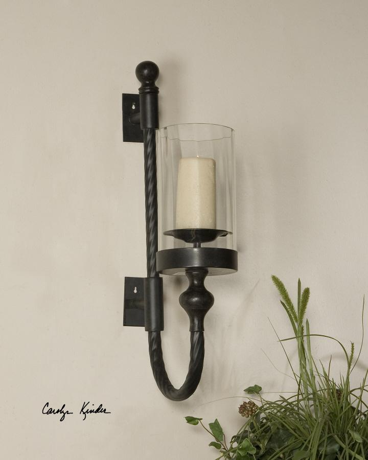Uttermost 19476 Garvin Twist, Sconce with Candle - фото 1