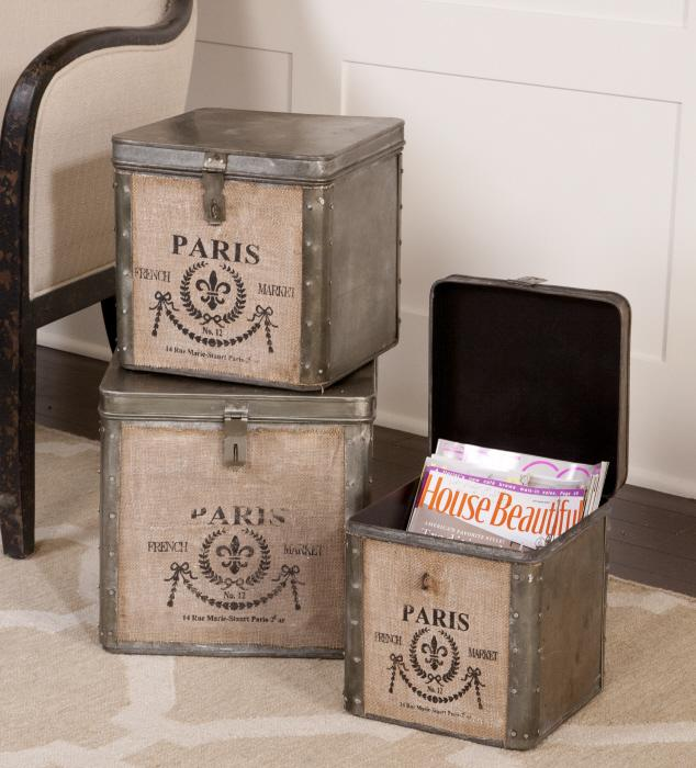 Uttermost 19751 Paris, Hinged Boxes, S/3 - фото 1