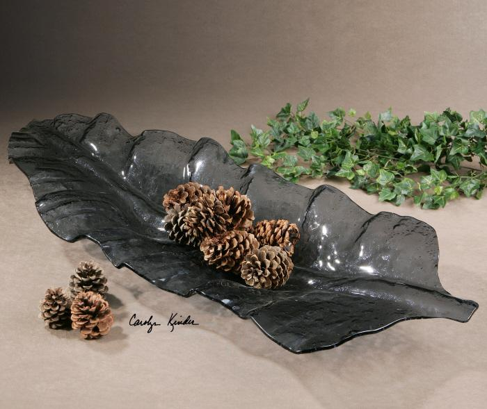 Uttermost 19862 Smoked Leaf, Tray - фото 1
