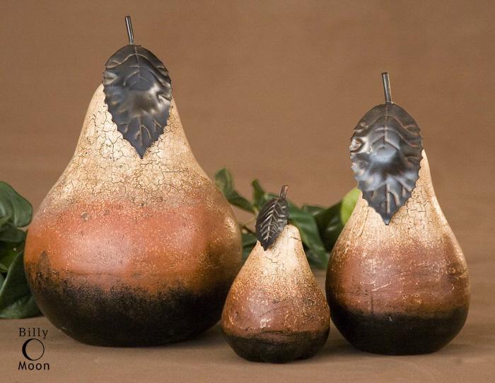 Uttermost 20358 Terra Cotta Pears, S/3 - фото 2