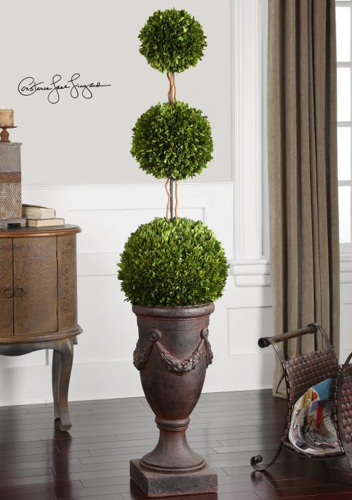 Uttermost 60093 Preserved Boxwood, Triple Topiary - фото 1