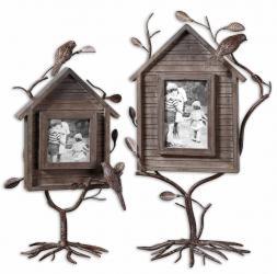 Uttermost 18528 Bird house photo frames set/2